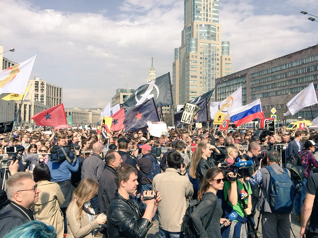 На митинг в поддержку Telegram собрались от 7 до 12 тысяч человек