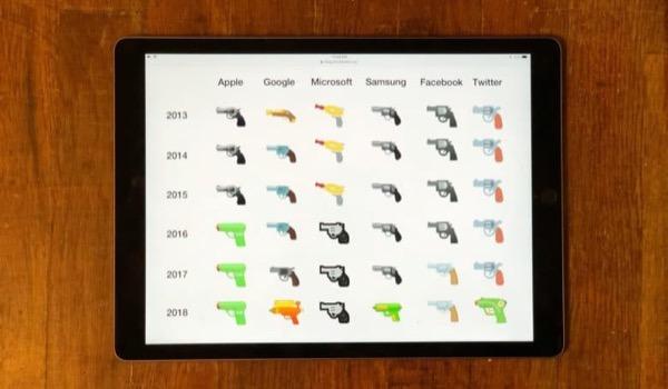 """Google вслед за Apple сделала emoji-пистолет более «безопасным"""""""