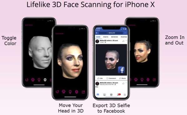 3D-модели лиц, созданные с помощью iPhone, заменят классические селфи