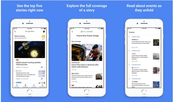 Усиленное искусственным интеллектом приложение Google News стало доступно для iPhone и iPad