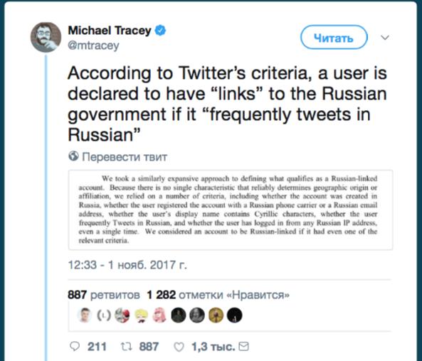 Twitter считает пишущих на кириллице болгар русскими ботами