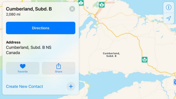 Apple Maps снова заводят не туда. Теперь в Канаде
