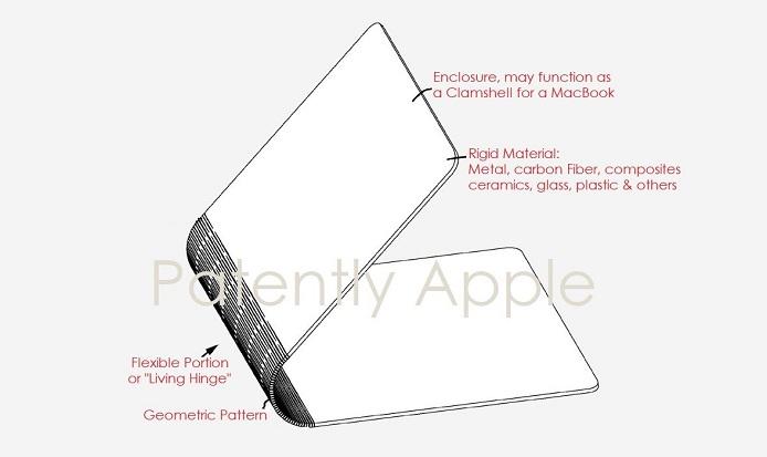 Apple запатентовала MacBook-раскладушку с цельным корпусом