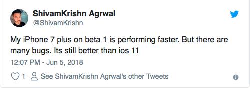 iOS 12 beta 1 оказалась быстрее iOS 11.4
