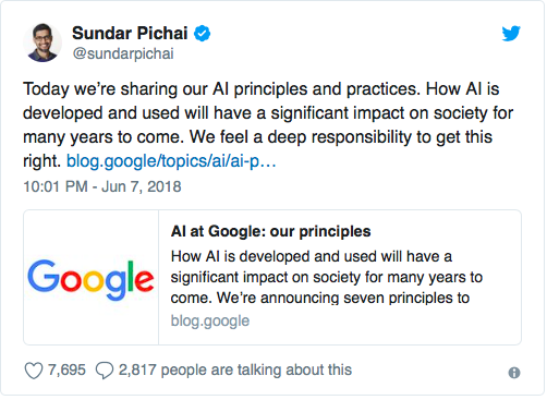 Google не будет создавать оружие с искусственным интеллектом, но работать с военными не прекратит