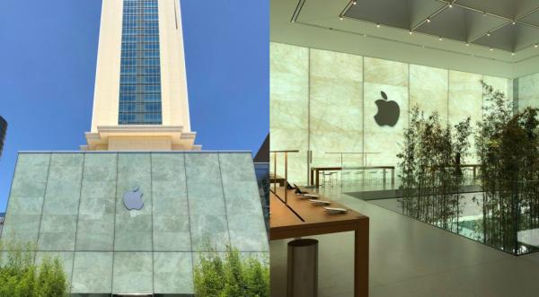 Каменные шторы и бамбук — Apple готовится к открытию еще одного магазина в Китае