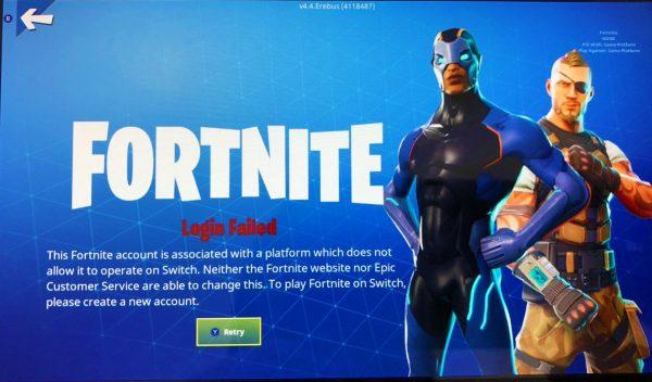 Sony не дает играть в Fortnite на Nintendo Switch