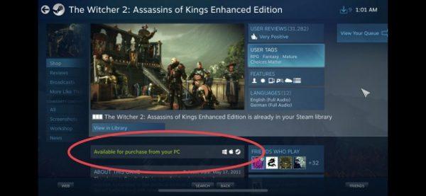 Valve удалила возможность покупать игры в Steam Link для iOS