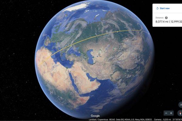 В Google Earth теперь можно измерить площадь и расстояние между объектами