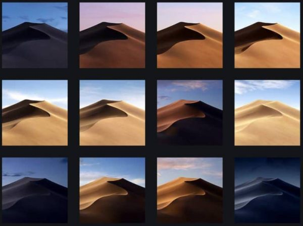 Обои из macOS Mojave уже появились в сети