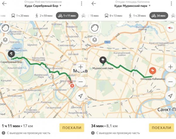 Ездить на велосипеде стало проще с «Яндекс.Картами»