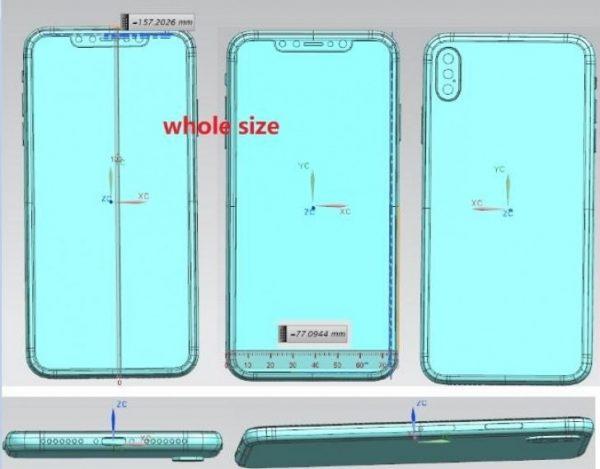В сети появились схемы iPhone X Plus и iPhone X 2018 года