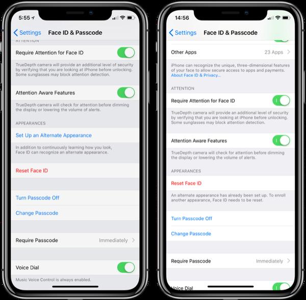 В iOS 12 появилась возможность добавлять сразу два лица в систему Face ID