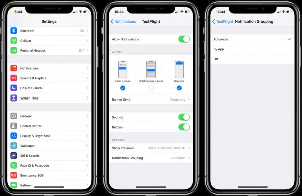 Как настроить групповые уведомления в iOS 12