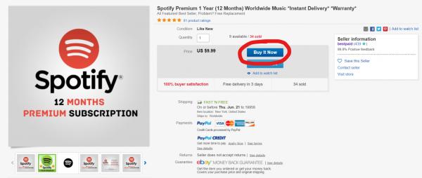 Как оформить подписку Spotify на год за 1000 руб. в России