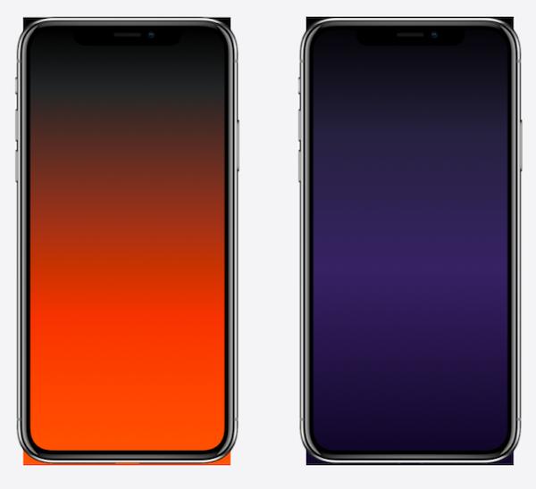 Подборка градиентных обоев, скрывающих челку iPhone X