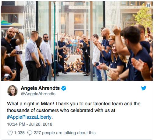 Новый Apple Store открылся в Милане