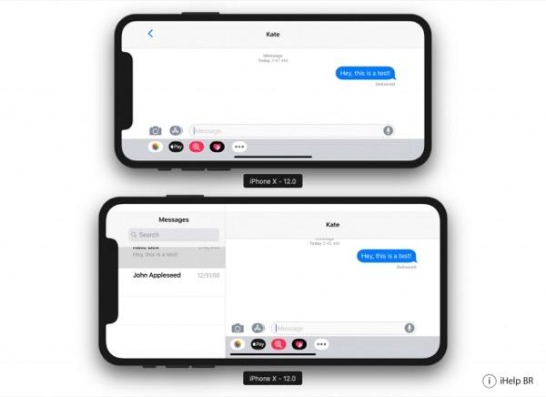 Так будет выглядеть интерфейс iOS 12 в iPhone X Plus