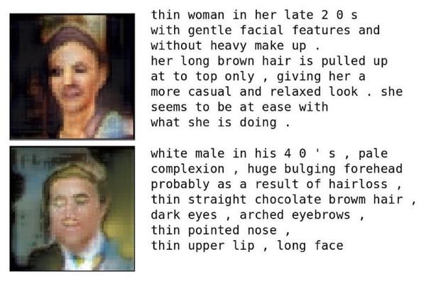 Программист научил искусственный интеллект рисовать лица на основе текстового описания