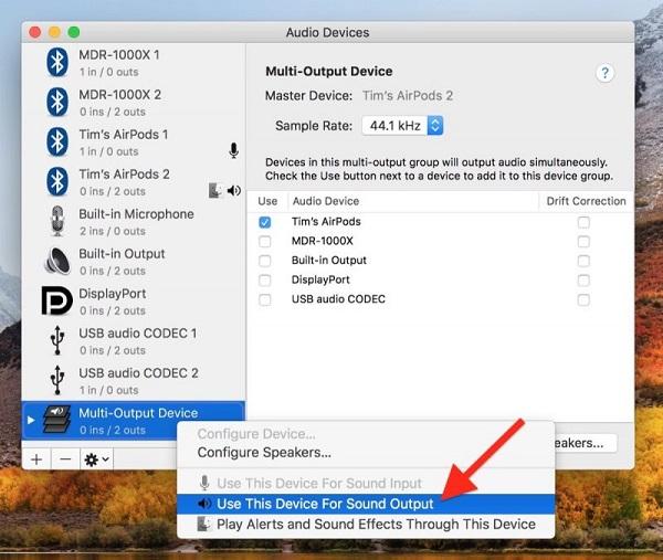 MacOS в деталях: выводим звук на две пары наушников