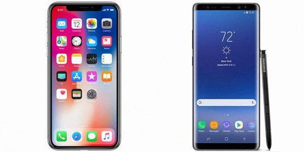 Samsung Galaxy Note 9 против iPhone X
