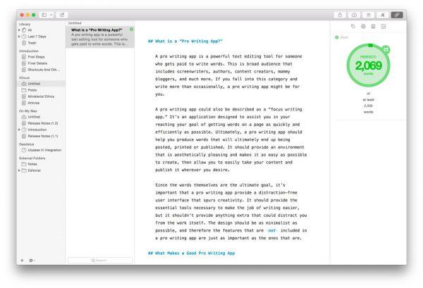Самые крутые текстовые редакторы для macOS и iOS