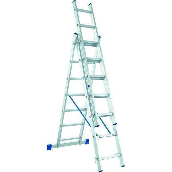 Универсальность лестниц алюминиевых трехсекционных